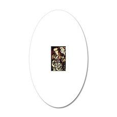 The Tibertine Sibyl  20x12 Oval Wall Decal