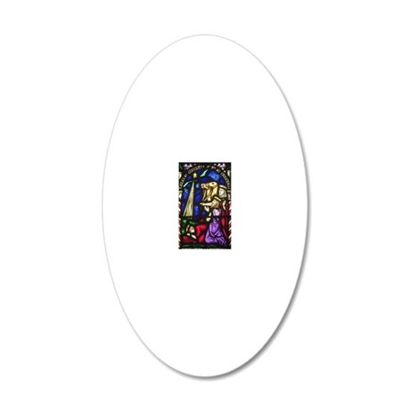 The Three Kings 20x12 Oval Wall Decal
