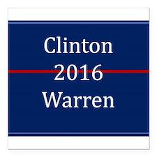 "Clinton Warren 2016 Square Car Magnet 3"" x 3"""