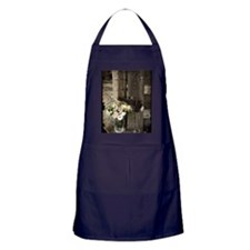 farm fence floral bouquet Apron (dark)