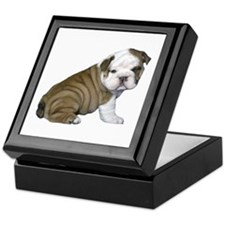 English Bulldog Puppy1 Keepsake Box