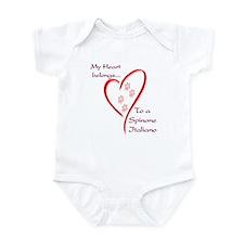 Spinone Heart Belongs Infant Bodysuit