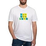 I LOVE NERDY BOYS T-SHIRT SHI Fitted T-Shirt