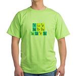 I LOVE NERDY BOYS T-SHIRT SHI Green T-Shirt