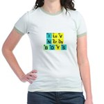 I LOVE NERDY BOYS T-SHIRT SHI Jr. Ringer T-Shirt