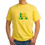 I LOVE NERDY BOYS T-SHIRT SHI Yellow T-Shirt