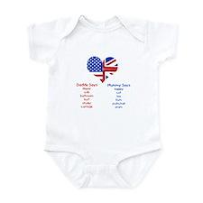 American Daddy, English Mummy Onesie