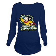 Mighty Mouse Save The Day Long Sleeve Maternity T-
