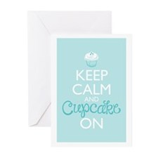 Keep Calm and Cupcake On Greeting Cards