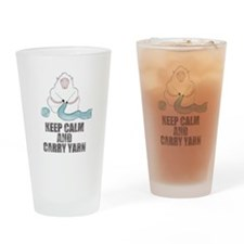 Cute Keep calm and crochet Drinking Glass