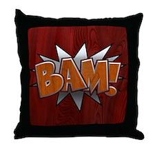 Metal-Wood Bam Throw Pillow