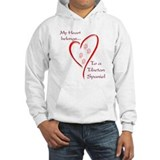 Tibetan Spaniel Heart Belongs Hoodie