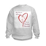 Tibetan Spaniel Heart Belongs Sweatshirt