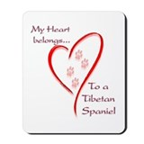 Tibetan Spaniel Heart Belongs Mousepad