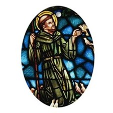 Saint Francis of Assisi Oval Ornament