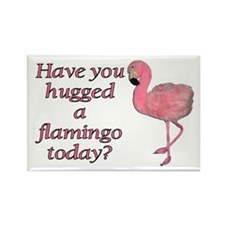 Cute Flamingo Rectangle Magnet (100 pack)
