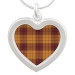 Tartan - Ulster dist. Silver Heart Necklace