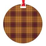 Tartan - Ulster dist. Round Ornament