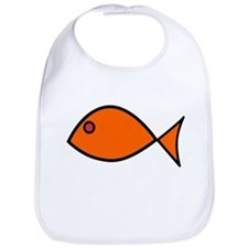 Orange Fish Bib