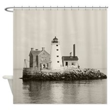 Island Lighthouse, 1896 Shower Curtain