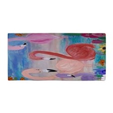 Flamingo Garden Beach Towel