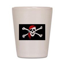 Pirate flag Shot Glass