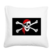 Pirate flag Square Canvas Pillow