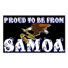 Proud To Be From Samoa Rectangle Decal