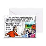 Penis of Youth Greeting Cards (Pk of 10)