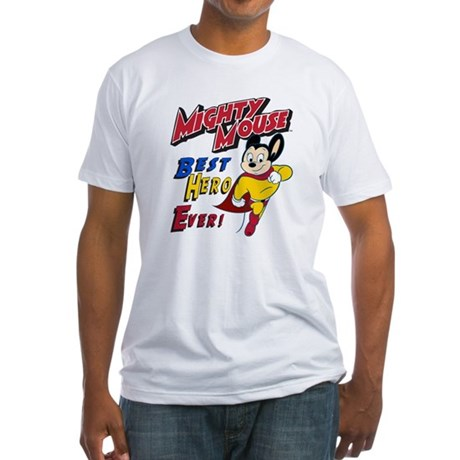 Mighty Mouse Best Hero Fitted T-Shirt