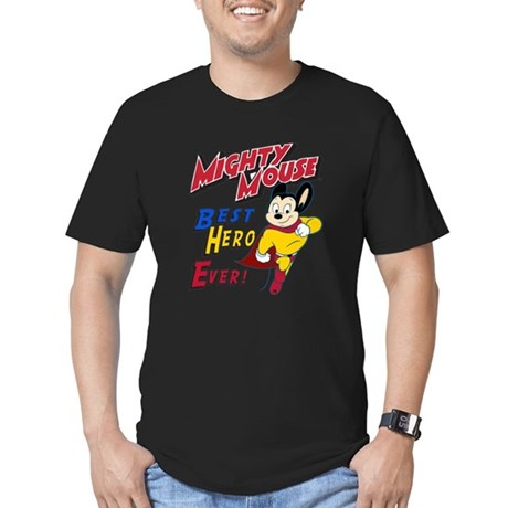 Mighty Mouse Best Hero Men's Fitted T-Shirt (dark)