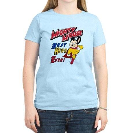 Mighty Mouse Best Hero Women's Light T-Shirt