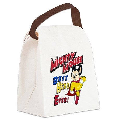 Mighty Mouse Best Hero Canvas Lunch Bag