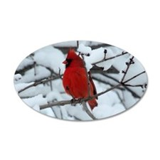 Snow Cardinal Wall Decal