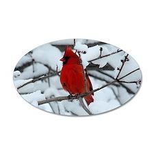 Snow Cardinal Wall Decal
