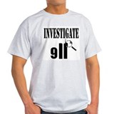 Investigate 9/11 Ash Grey T-Shirt