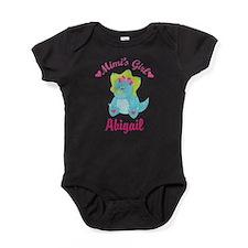 Personalized Mimis Girl Dino Baby Bodysuit