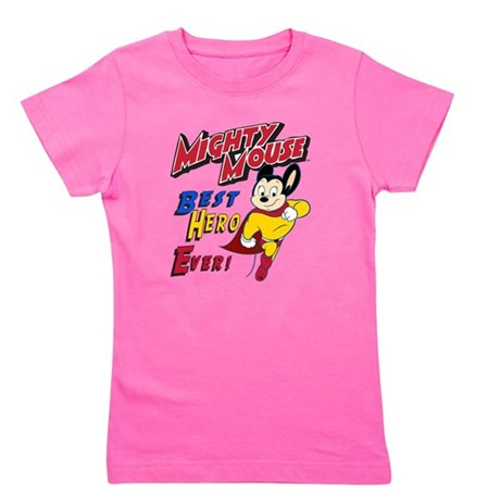 Mighty Mouse Best Hero Girl's Tee