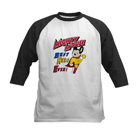 Mighty Mouse Best Hero Kids Baseball Jersey