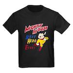 Mighty Mouse Best Hero Kids Dark T-Shirt