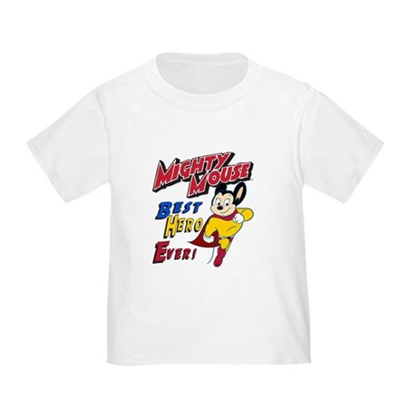 Mighty Mouse Best Hero Toddler T-Shirt