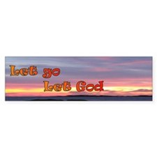 Let God Bumper Bumper Sticker