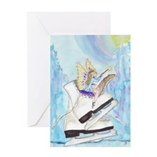 Imagination Fairy Skating Greeting Card