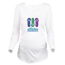 Aloha - Hawaii Flip Flops Long Sleeve Maternity T-