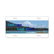 Let God Aluminum License Plate