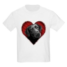 Labrador Retriever Valentine Kids T-Shirt