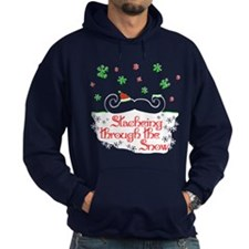 Stacheing Through the Snow Hoodie