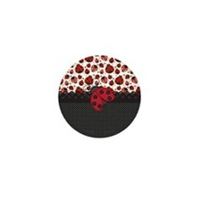 Ladybugs Mini Button