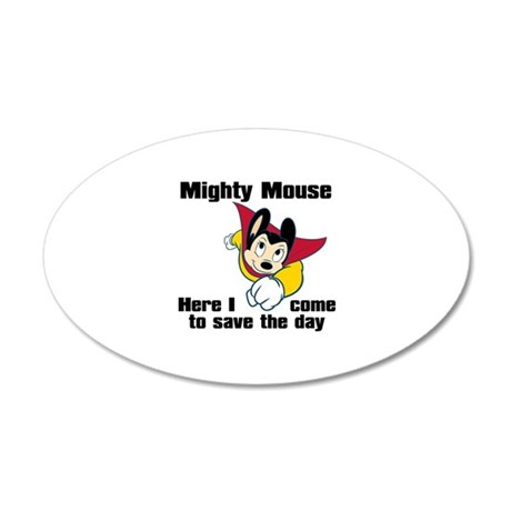 Mighty Mouse Save the Day 20x12 Oval Wall Decal