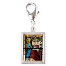 St Anne with Mary Silver Portrait Charm